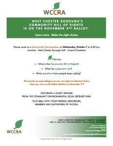WCCRA Community Conversation Flyer